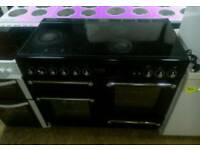 Range cooker ceramic top