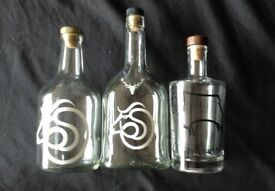 Derby County rare bottles x3. Empty