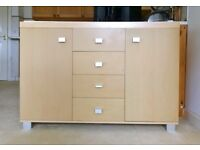 2 door, 4 drawer stylish living room unit