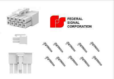 10 Pin Connector Plug Federal Signal Pa300 R Smart Siren Platinum 650 Series