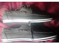 Men's New Black 1904 Heritage Footwear Cadet Casual Deck Shoes.Size 6.