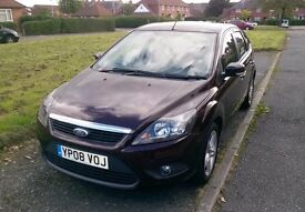 2008 (08) FORD FOCUS 1.8 ZETEC - MOT MAY 17 - ONLY 80,000 MILES - AIR~CON - 3 KEYS - ALLOYS