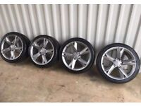 19'' GENUINE AUDI A5 S LINE Y SPOKE ALLOY WHEELS TYRES ALLOYS 5 SPOKE A4 B8 A6