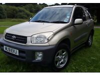 Toyota rave 4 2001 4x4 petrol 3 door 4 seater 1.8 petrol 89000 mileage. With tow bar fitted