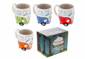 Set 4 VW camper van mugs