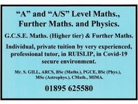 Som Gill : A & A/S Level Maths., Further Maths., Physics; GCSE Maths. (Higher & Further) Tutor