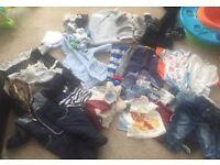 6-9 months boys large bundle of clothes & shoes