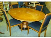 Designer Italian SELVA Dining Table and 4 Chairs