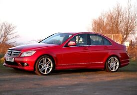 2007 C220 CDI AMG Sport Red with Black leather