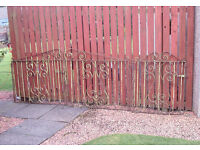 Wrought iron Driveway and Pathway Gates