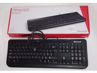 MICROSOFT Wired Keyboard 600 PC / MAC - Black. PERFECT CONDITION