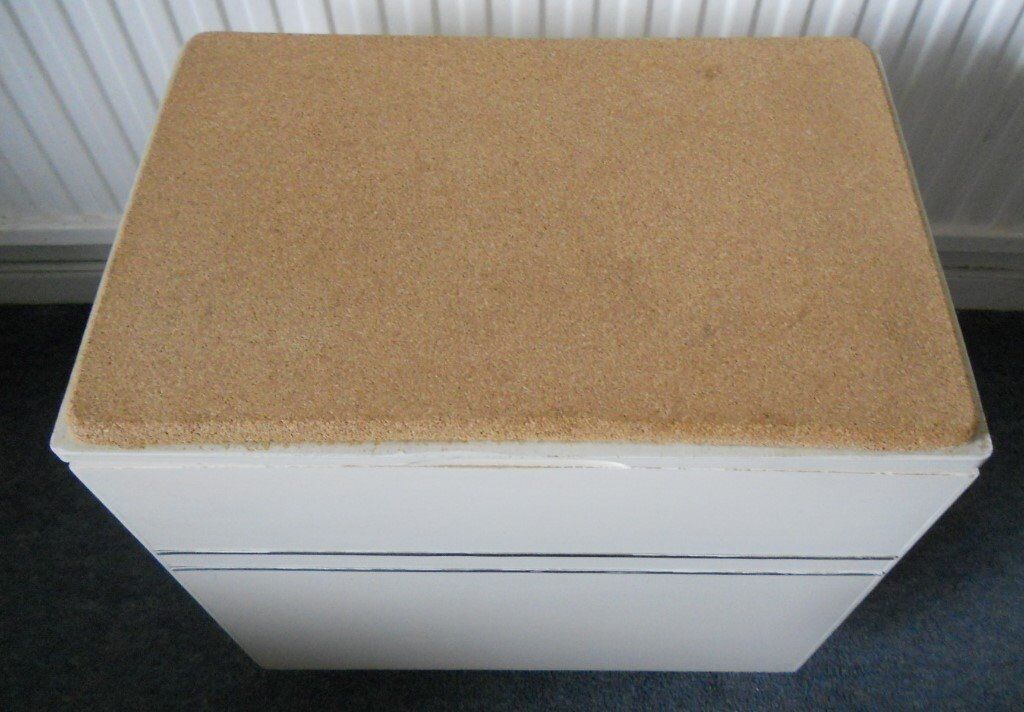 Bathroom Cork Topped Seat And Storage Box