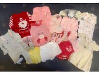 New baby size bundle of clothes