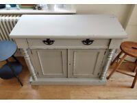 Hand painted Victorian cupboard. Painted furniture. Vintage cupboard. Vintage storage.