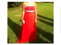 Red prom dress ball gown