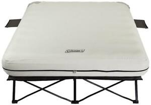 NEW Coleman Queen Airbed Cot, Beige