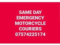 EMERGENCY MOTORBIKE SAME DAY COURIER SERVICE