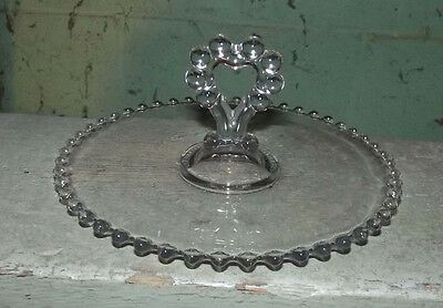 "Candlewick by Imperial glass 8 1/4"" center handled pastry tray"