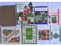 8 Books gardening guide Preserve fruit vegetables care of flowers hanging baskets practical guides