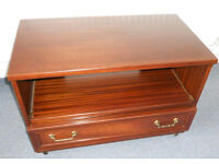 TV and DVD Unit with Drawer, Casters, G-plan