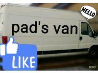 """Man with van """"Pads van"""""""