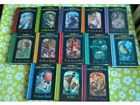 A Series of Unfortunate Events, volumes 1-13 in hardback