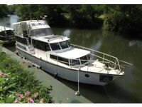 Dutch Steel Motor Cruiser 40 foot with Residential mooring Liveaboard Boat