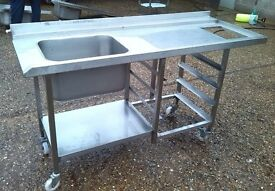 COMMERCIAL SINK 170x65cm HEIGHT 88 cm