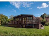Beautiful Riverside Lodge in Mid Wales.