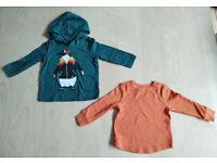 Brand New 2 Piece Old Navy Baby Clothes Bundle Set Orange/Green 12-18 Months
