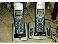 BT Freestyle 750 large button TWIN + answerphone