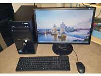 HP MT 3550 PC with 22 inch monitor, Core i3-3rd gen, 8gb ram, 500gb hdd