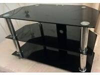 Black glass tv unit 3 tier