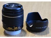 Nikon DX lens AF-P Nikkor 18-55mm 1:3.5-5.6 G with hood