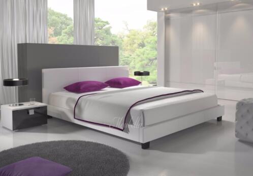 â tweepersoonsbed george wit zwart 140 160 180 200 slaapkamer