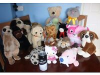 Job Lot no.2 - 17 x Children's Soft Toys Including a Large Rabbit, Large Bear, Hello Kitty