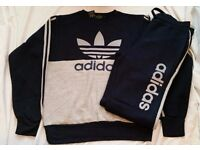 ADIDAS TRACKSUIT FOR UNISEX - NEW WITH TAGS - NAVY - SIZES: MEDIUM, LARGE & XL AVAILABLE
