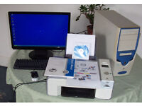 Home Office PC System with All-In-One printer, copier & scanner