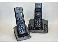 BT Freestyle 750 Digital Cordless Telephone Answering Machine. Twin Handsets.