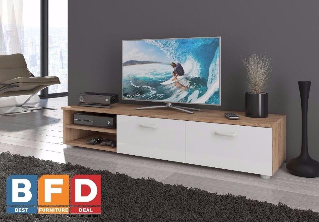 Modern Tv Unit Cabinet 2 Meter Long 2 Door Tv Stand Board