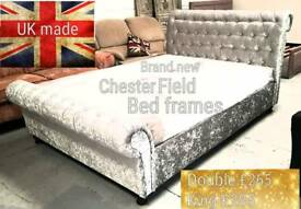Brand new chesterfield sleigh bed frames can deliver 07808222995