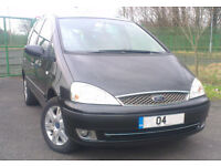 FORD GALAXY 1.9 GHIA TDDI 130BHP 2004 MODEL IN BLACK 12 MONTHS M.O.T, TV SCREENS