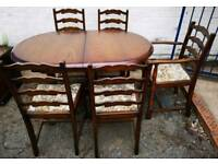 Walnut Extending Table x 5 Chairs