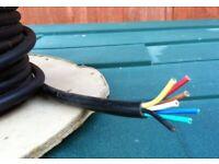 7 CORE TRAILER CABLE BLACK PRICE £ 2 PER METRE