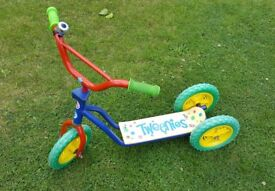 Early learner Tweenies scooter - super stable