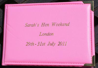 "Personalised Pink Hen Night/Weekend Birthday Photo Album 6""x4"" photos"