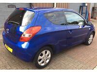 Hyundai i20 - 3 Door Hatchback 1.2 Petrol Blue Colour - only 50,000 Miles