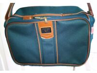 Antler multi purpose holdall carrier bag small medium green with tan trim