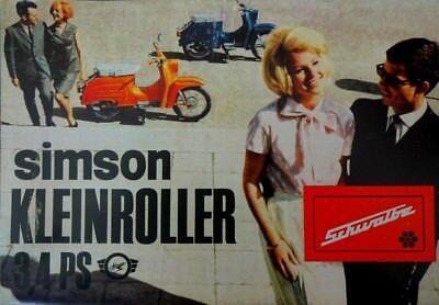 Gebraucht, 7 stück 1967 DDR Prospekt SIMSON Schwalbe Kleinroller Roller 3,4 PS Modell KR 51 gebraucht kaufen  Bauerbach