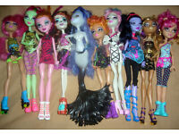 3rd Bundle of 10 Monster High Dolls includes Little Sisters (Free Local Delivery)